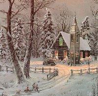 verschneite winterliche und weihnachtliche landshaften, landschaft verschneit, winterlich